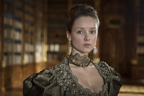 Programme Name: The Musketeers - TX: n/a - Episode: n/a (No. n/a) - Embargoed for publication until: n/a - Picture Shows: Queen Anne (ALEXANDRA DOWLING) - (C) BBC - Photographer: Robert Viglasky